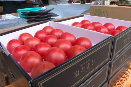 「大地にカンパイ!」塩トマト